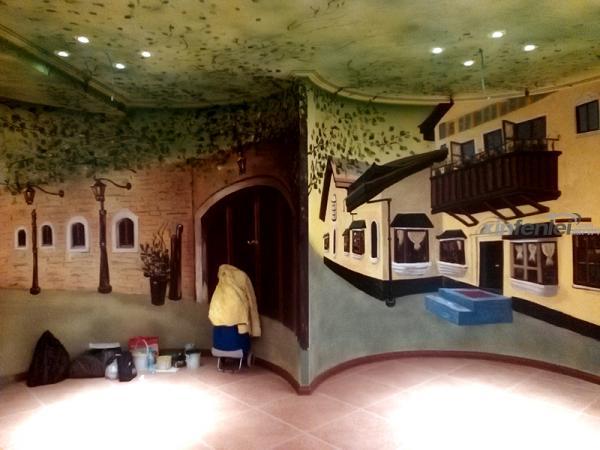 欧式园墙-睿阳手绘墙绘工作室
